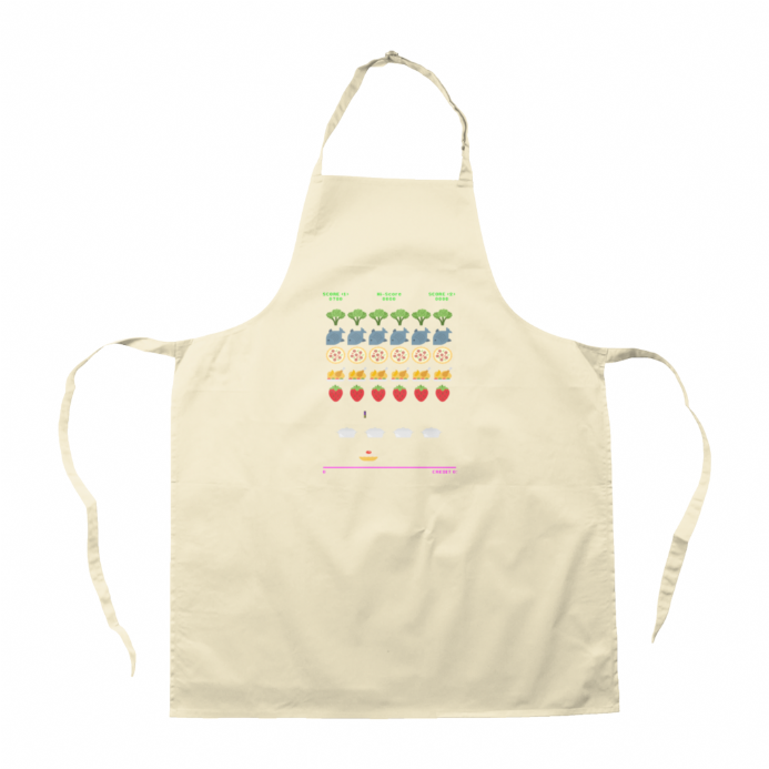 Food Invaders - Space Invaders Inspired Apron